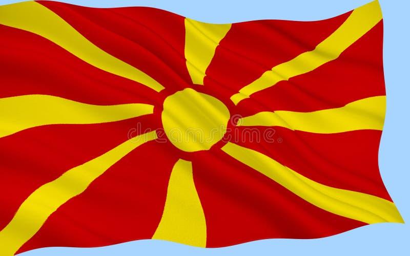 Drapeau de la république de Macédoine image stock