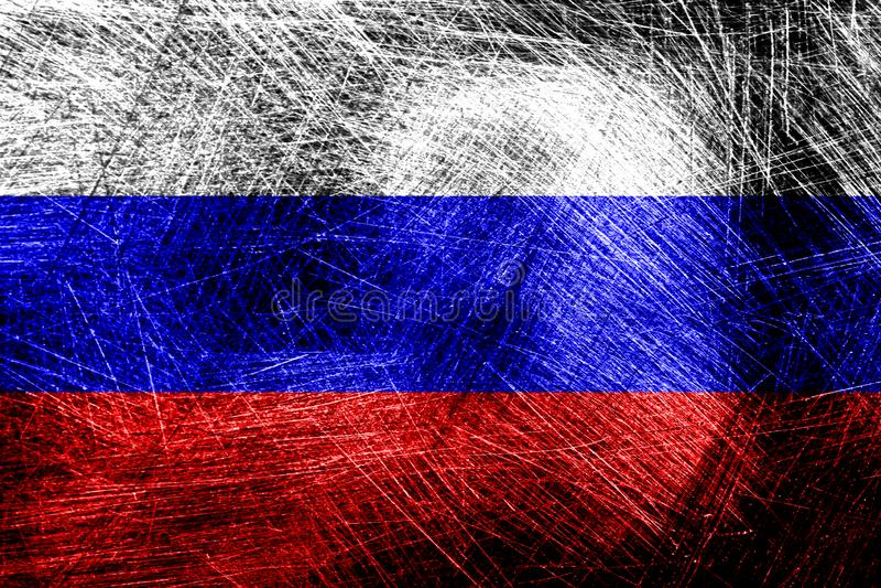 drapeau de la russie à texture modèle de conception photo stock