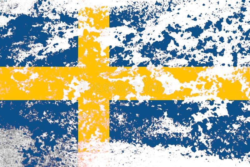 drapeau de la suède à texture modèle de conception images libres de droits