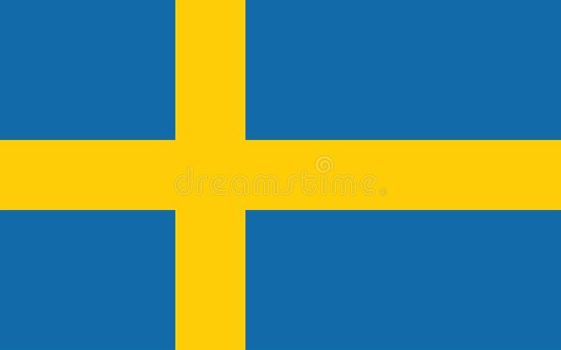Drapeau de la Suède de la Suède illustration de vecteur