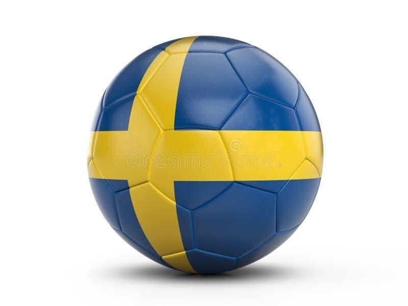 Drapeau de la Suède de ballon de football illustration de vecteur