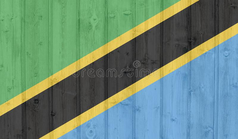 Drapeau de la Tanzanie illustration stock