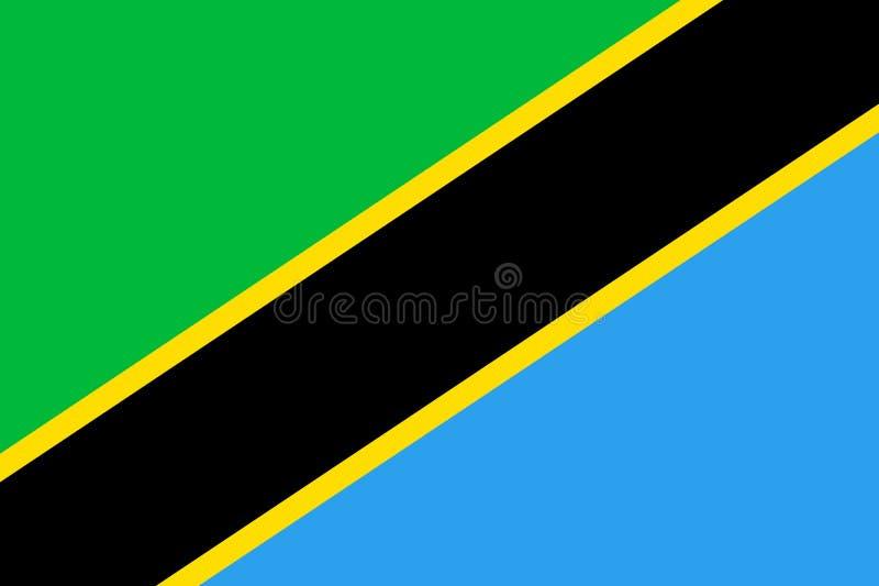 Drapeau de la Tanzanie plat illustration libre de droits