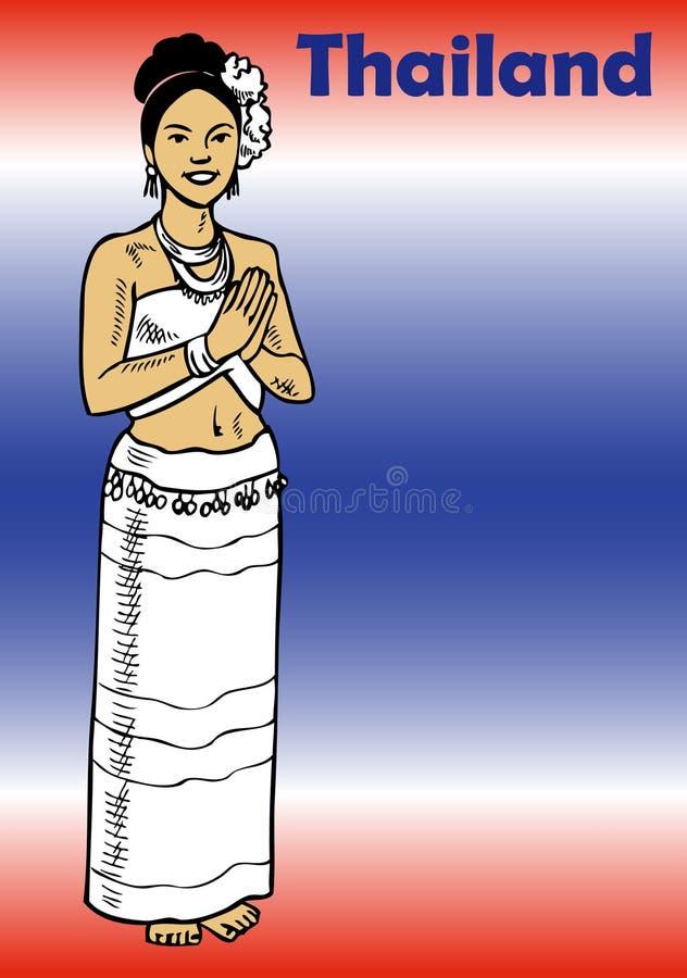 Drapeau de la Thaïlande illustration stock