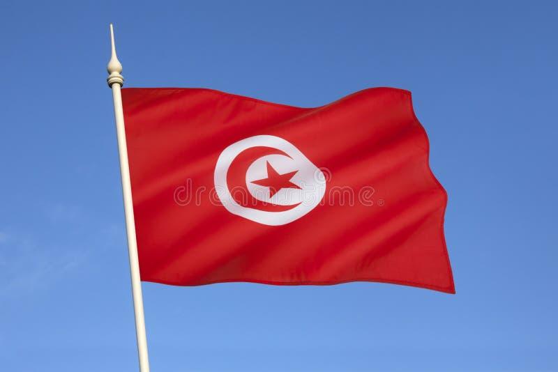 Drapeau de la Tunisie - Afrique du Nord image libre de droits