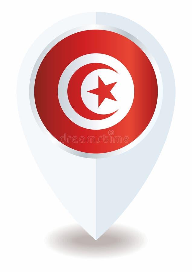 Drapeau de la Tunisie, république tunisienne Calibre pour la conception de récompense, un document officiel avec le drapeau de la illustration libre de droits