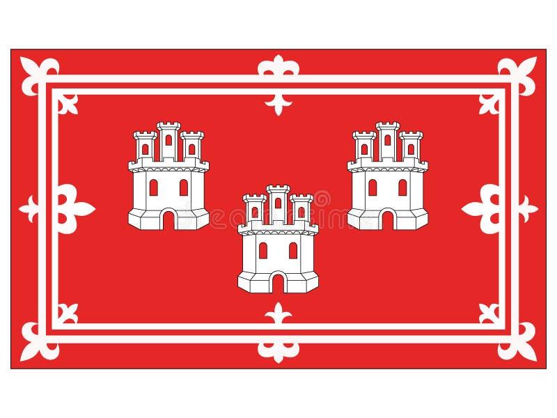 Drapeau de la ville écossaise d'Aberdeen illustration stock