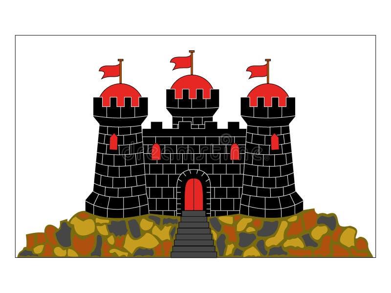 Drapeau de la ville écossaise d'Edimbourg illustration libre de droits