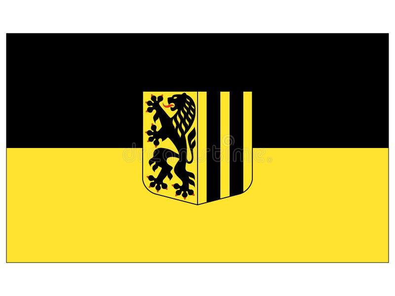 Drapeau de la ville allemande de Dresde illustration de vecteur