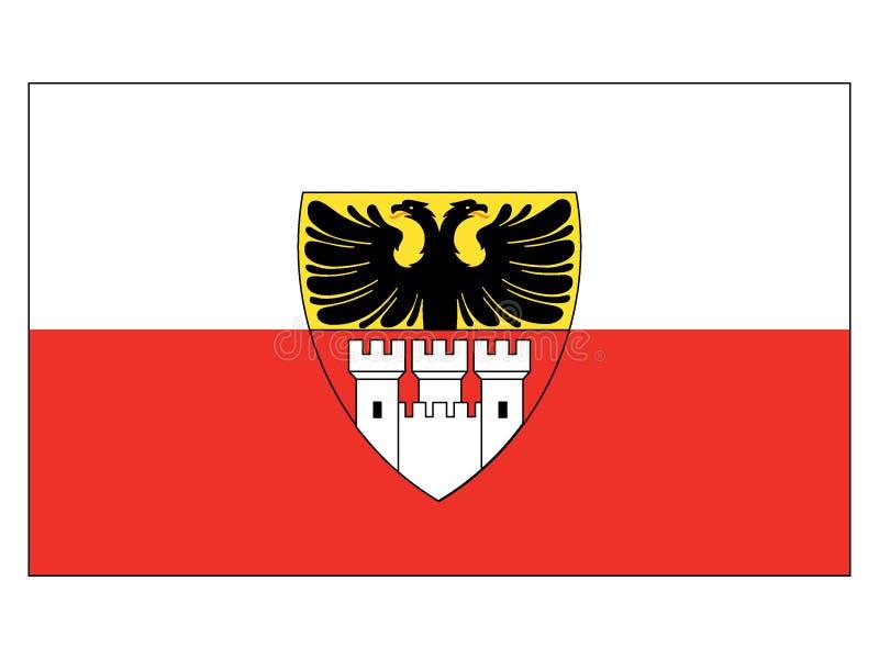 Drapeau de la ville allemande de Duisbourg illustration libre de droits