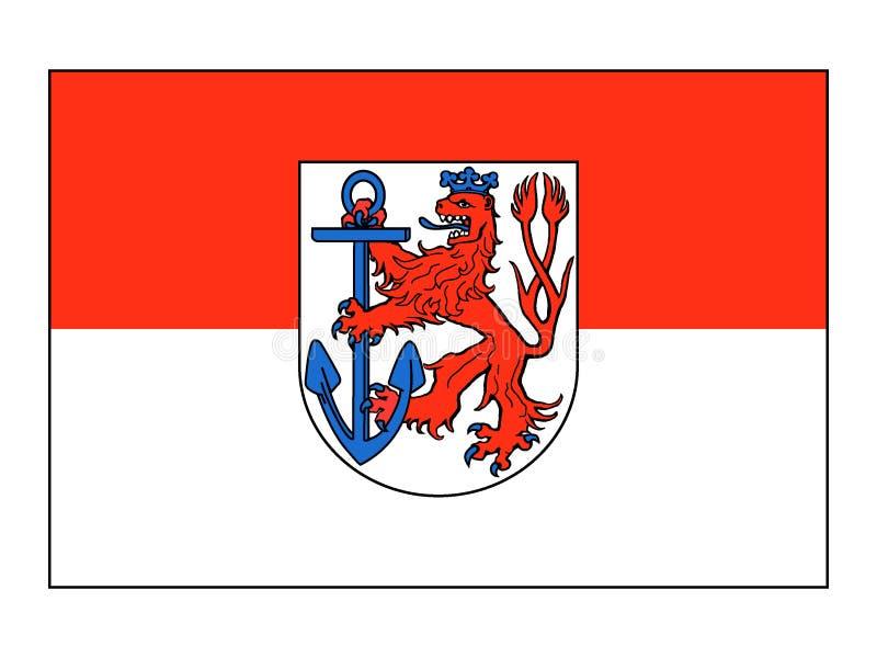 Drapeau de la ville allemande de Dusseldorf illustration de vecteur