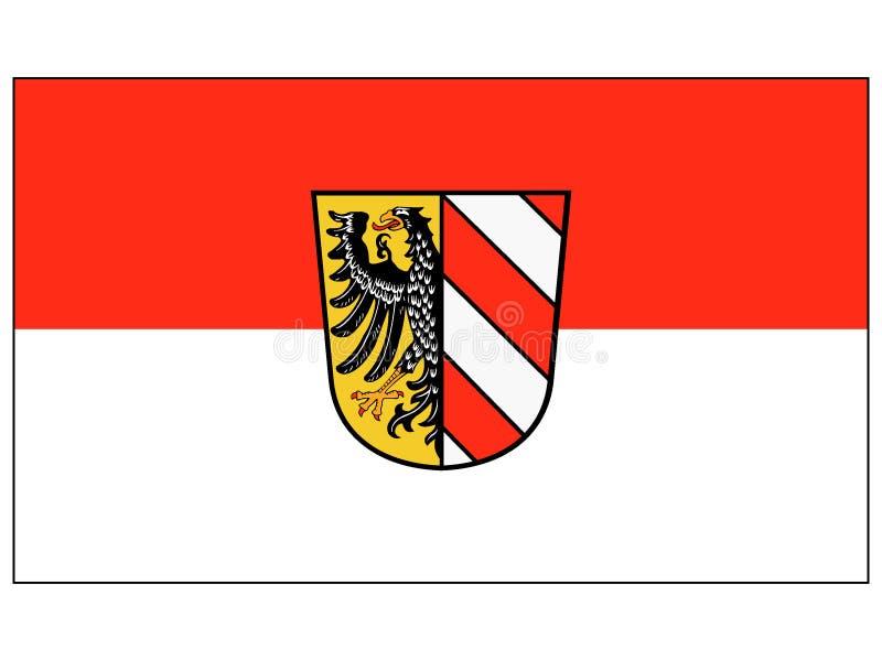 Drapeau de la ville allemande de Nuremberg illustration stock