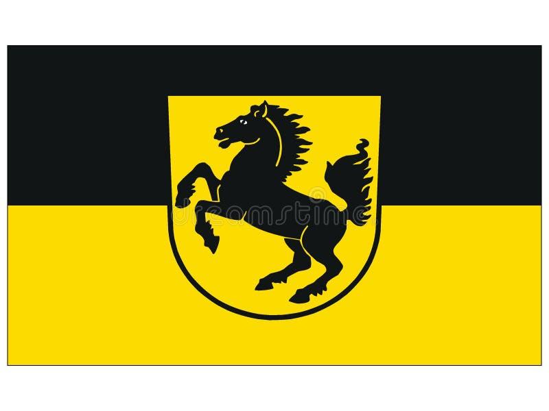 Drapeau de la ville allemande de Stuttgart illustration de vecteur