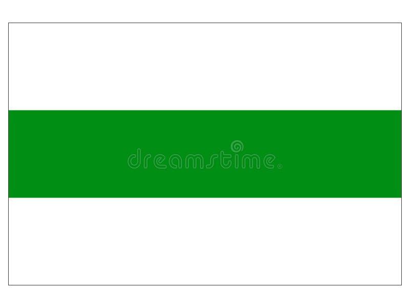 Drapeau de la ville néerlandaise de Groningue illustration libre de droits