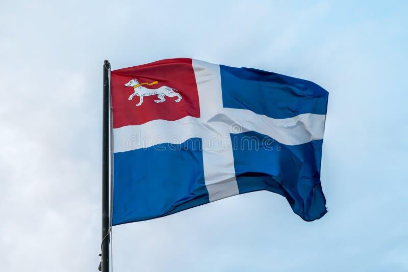 Drapeau de la ville de Saint Malo photos stock