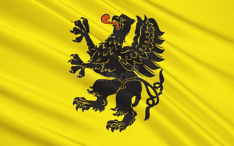 Drapeau de la Voïvodie de Poméranie en Pologne du centre-nord photos stock