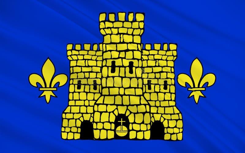 Drapeau de lentille, France illustration libre de droits