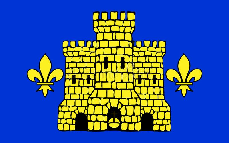 Drapeau de lentille, France illustration de vecteur