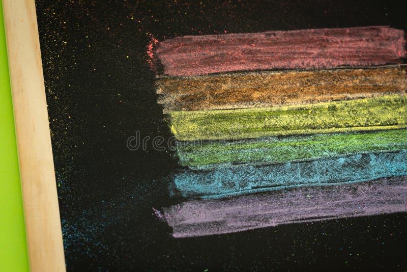 Drapeau de LGBT peint sur le concept de conseil pédagogique/éducation dans les sujets de la tolérance photographie stock