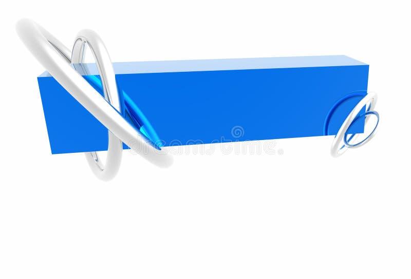 Drapeau de logo illustration de vecteur