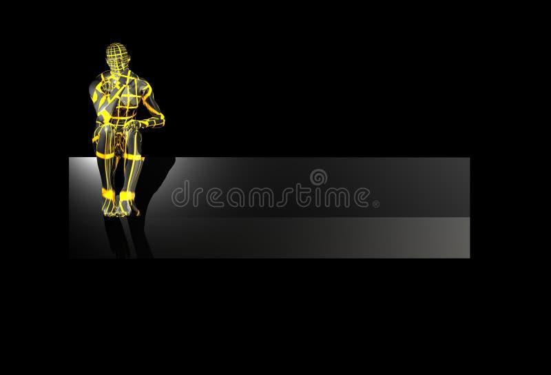 Drapeau de logo illustration stock