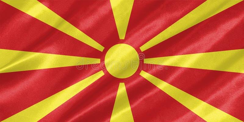 Drapeau de Macédoine photographie stock