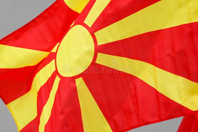Drapeau de Macédoine photos stock