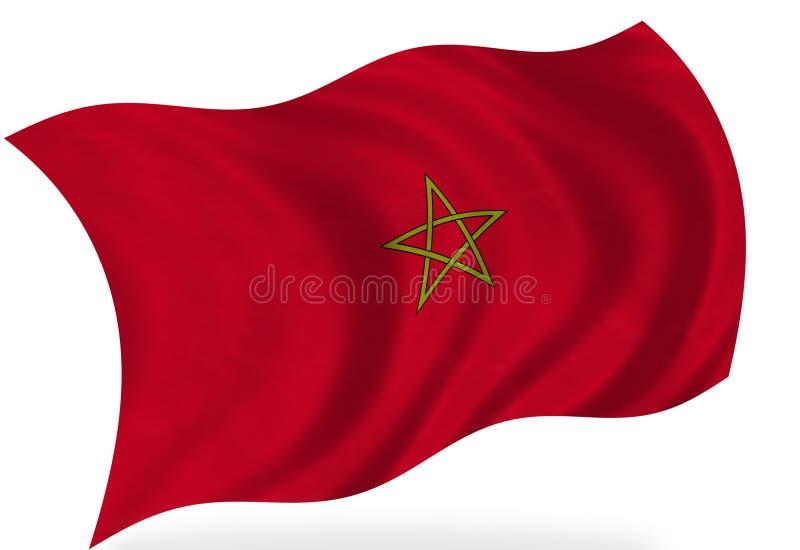 Drapeau de Marocco illustration de vecteur