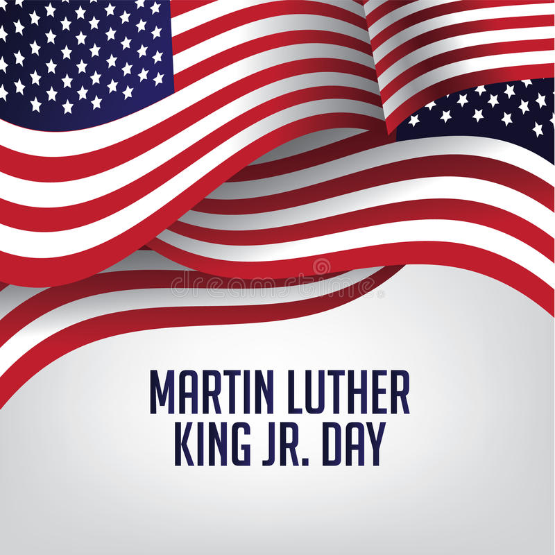 Drapeau de Martin Luther King Day American illustration stock