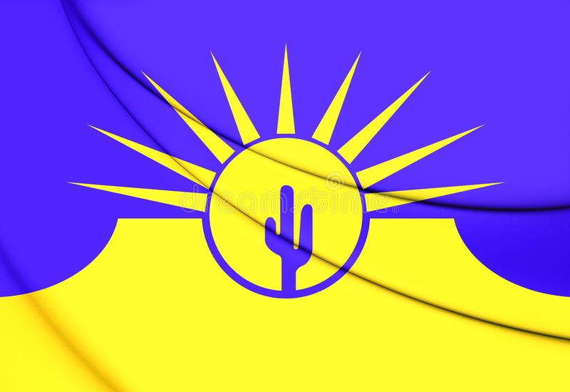 Drapeau de Mesa Arizona, Etats-Unis illustration libre de droits