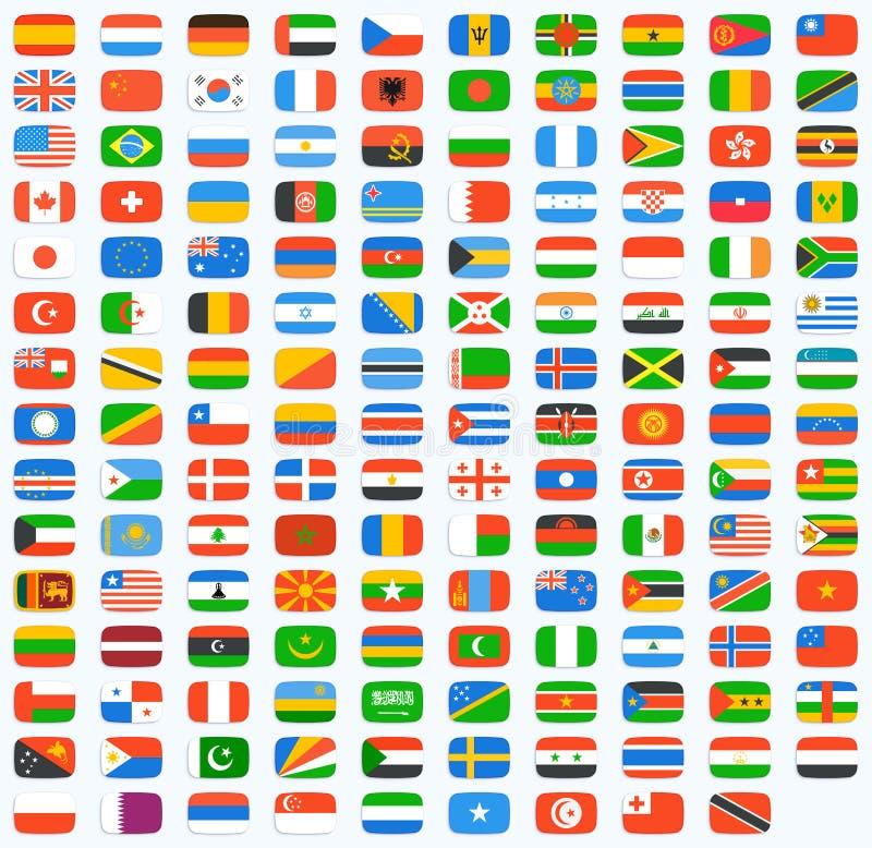Drapeau de monde illustration libre de droits