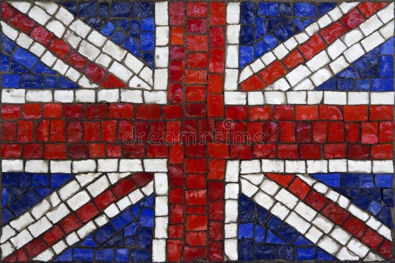 Drapeau de mosaïque de la Grande-Bretagne ou du Royaume-Uni photo libre de droits