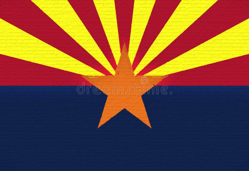 Drapeau de mur de l'Arizona illustration libre de droits
