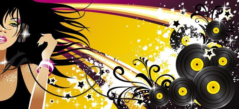 Drapeau de musique illustration stock