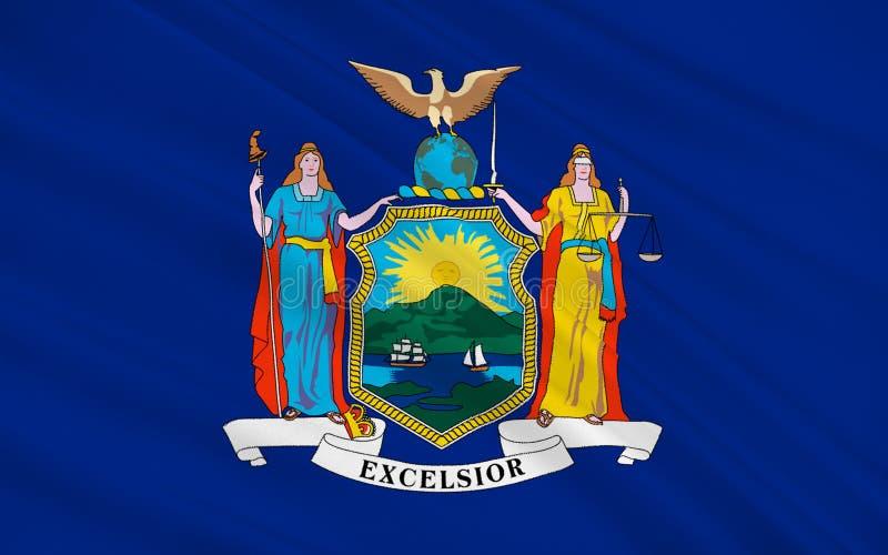 Drapeau de New York, Etats-Unis illustration de vecteur