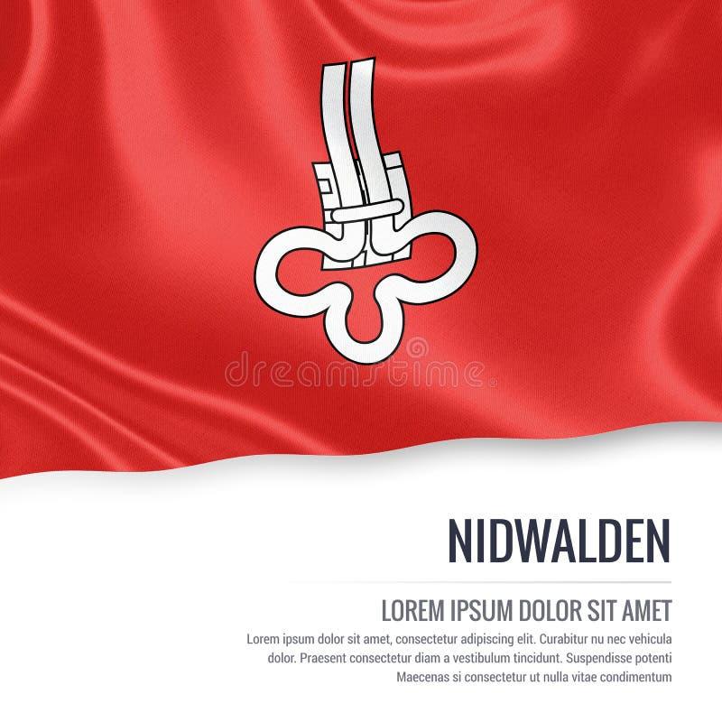 Drapeau de Nidwald d'état de la Suisse illustration de vecteur