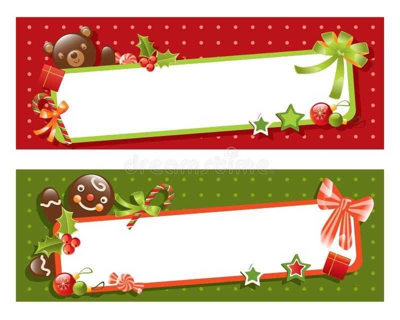 Drapeau de Noël illustration stock
