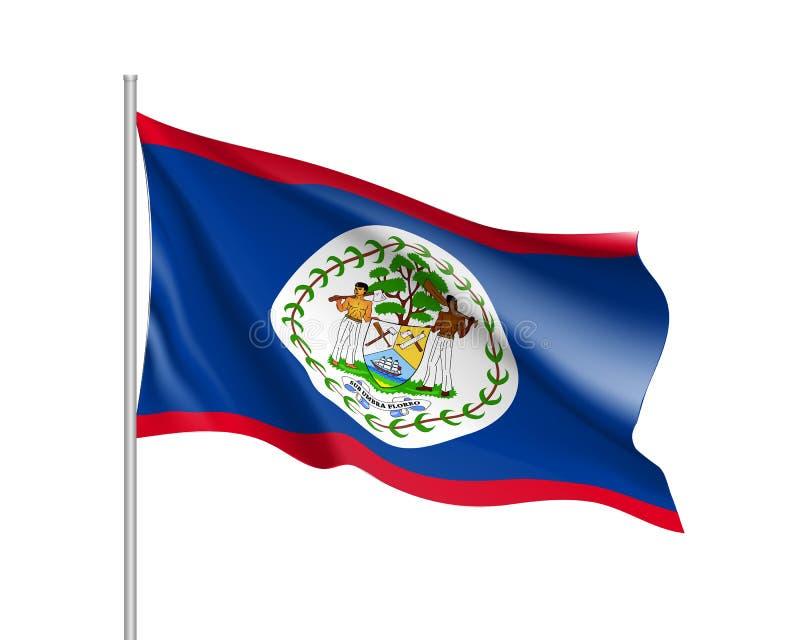 Drapeau de ondulation de Belize illustration libre de droits