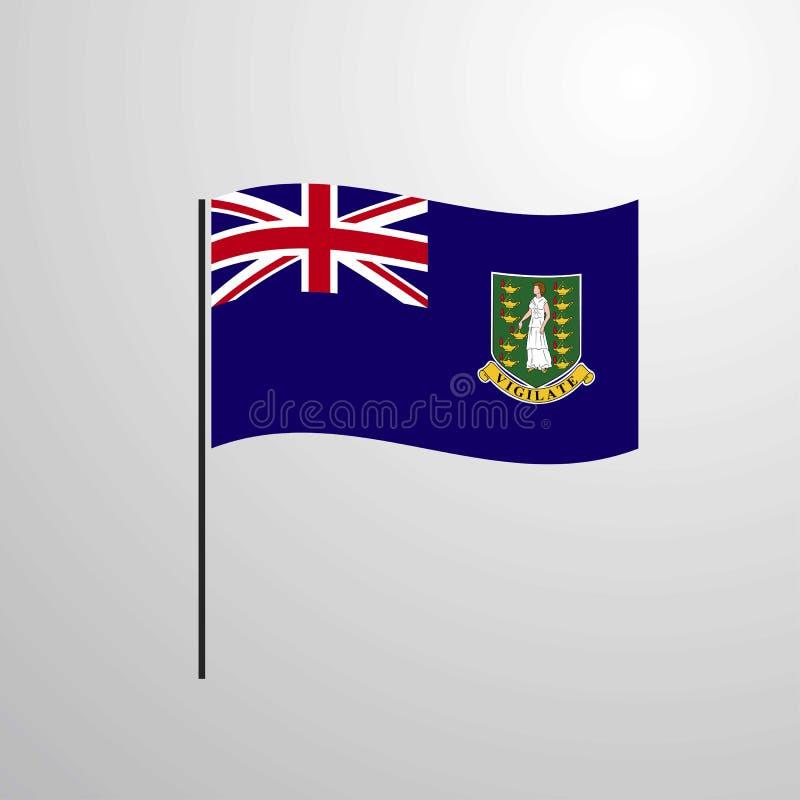 Drapeau de ondulation BRITANNIQUE des Îles Vierges illustration de vecteur