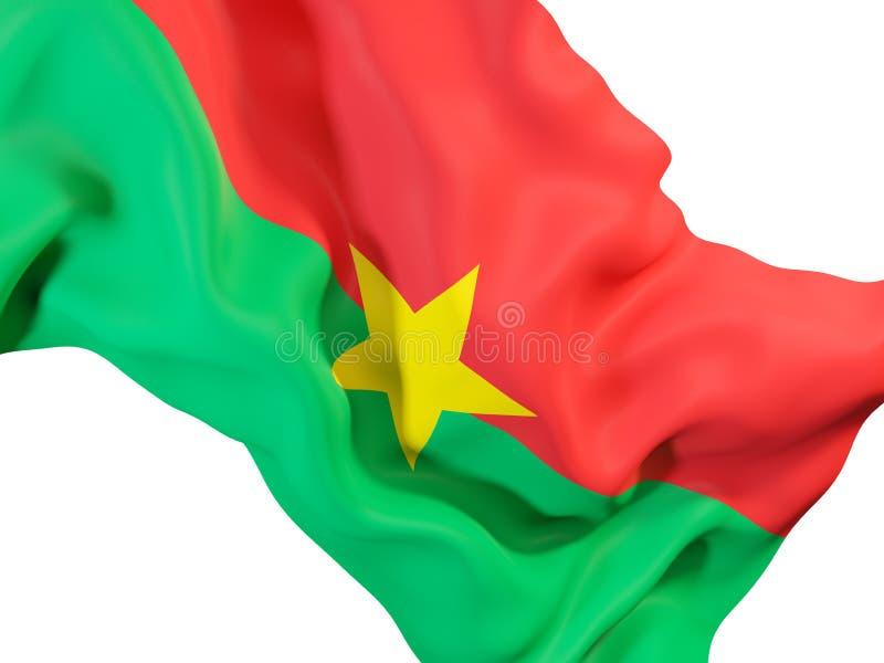 Drapeau de ondulation de Burkina Faso illustration stock