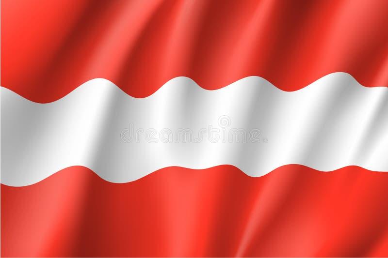 Drapeau de ondulation d'état de l'Autriche illustration libre de droits