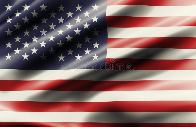 Drapeau de ondulation d'état uni de l'Amérique illustration stock