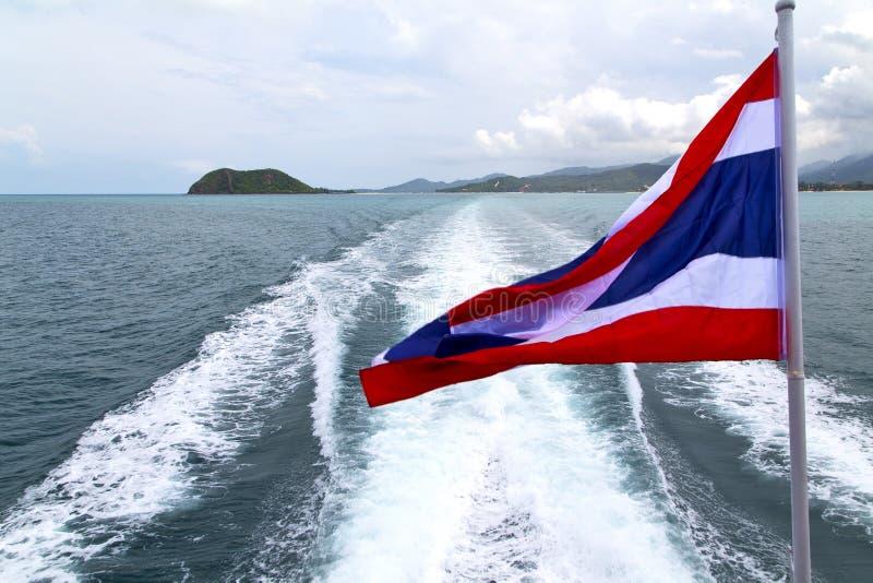 drapeau de ondulation d'île de baie de samui de kho de l'Asie myanmar en Thaïlande photo stock