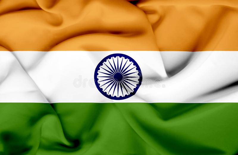 Drapeau de ondulation d'Inde illustration stock