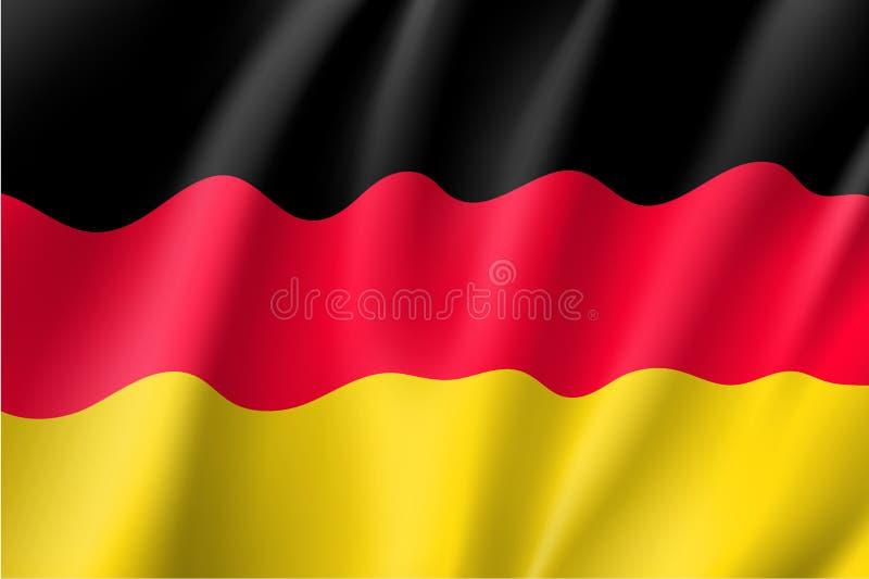 Drapeau de ondulation de l'Allemagne illustration stock