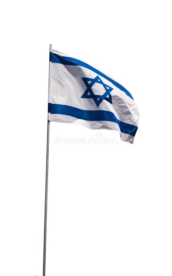 Drapeau de ondulation de l'Israël photographie stock libre de droits