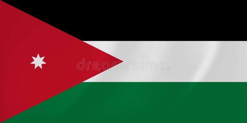 Drapeau de ondulation de la Jordanie illustration de vecteur