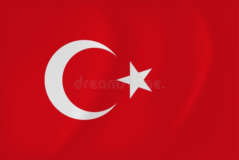 Drapeau de ondulation de la Turquie illustration stock