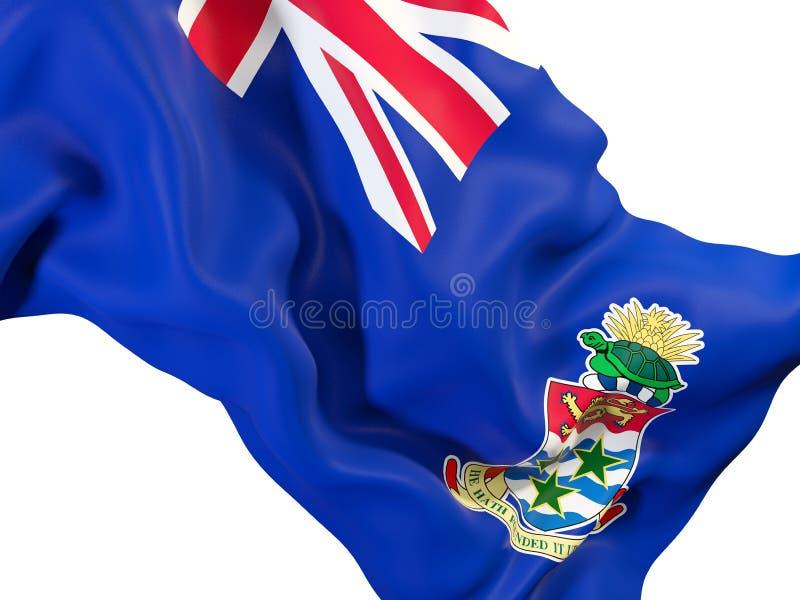 Drapeau de ondulation des Îles Caïman illustration de vecteur