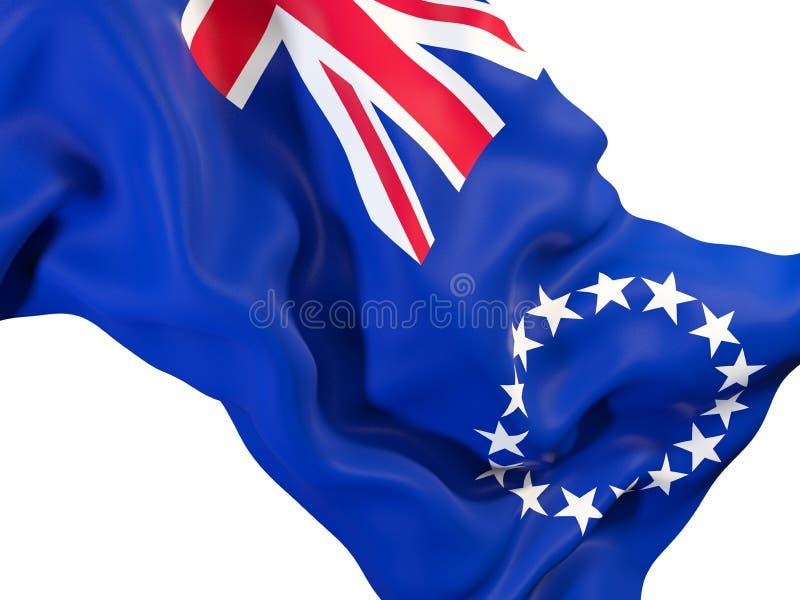 Drapeau de ondulation des îles Cook illustration de vecteur